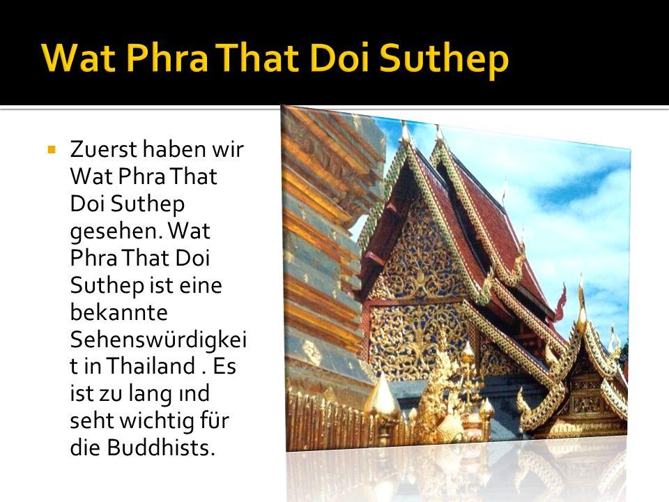 Zuerst haben wir Wat Phra That Doi Suthep gesehen.