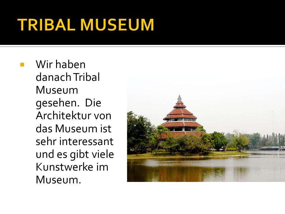 Wir haben danach Tribal Museum gesehen.