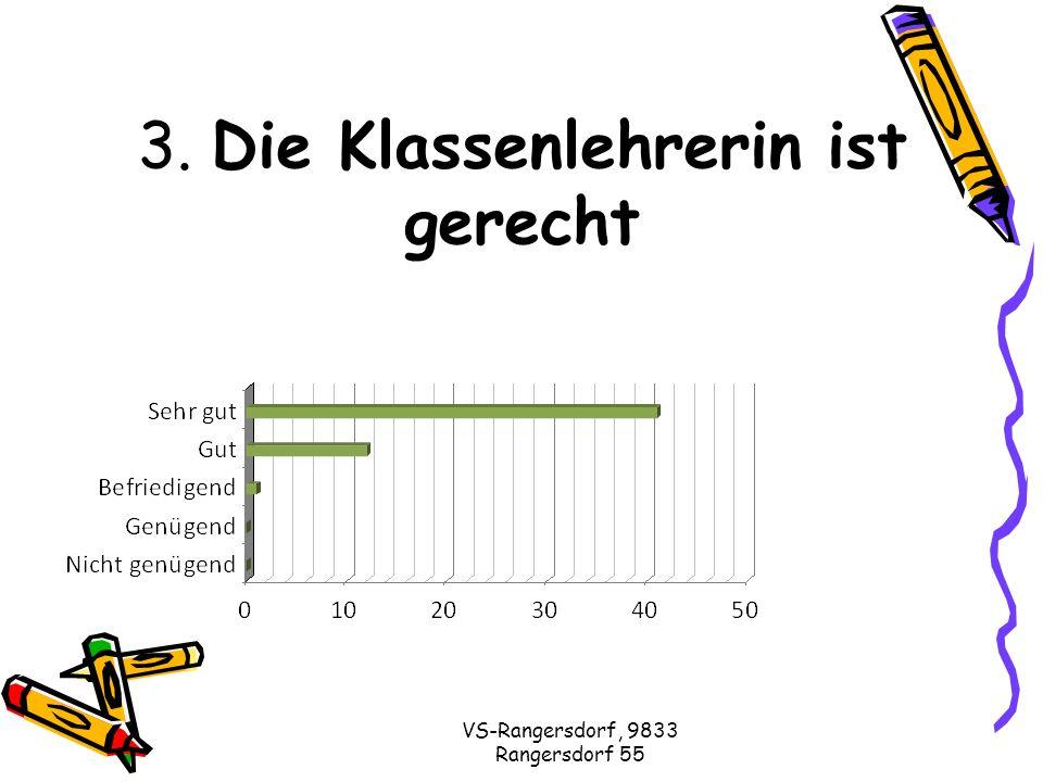 VS-Rangersdorf, 9833 Rangersdorf 55 3. Die Klassenlehrerin ist gerecht
