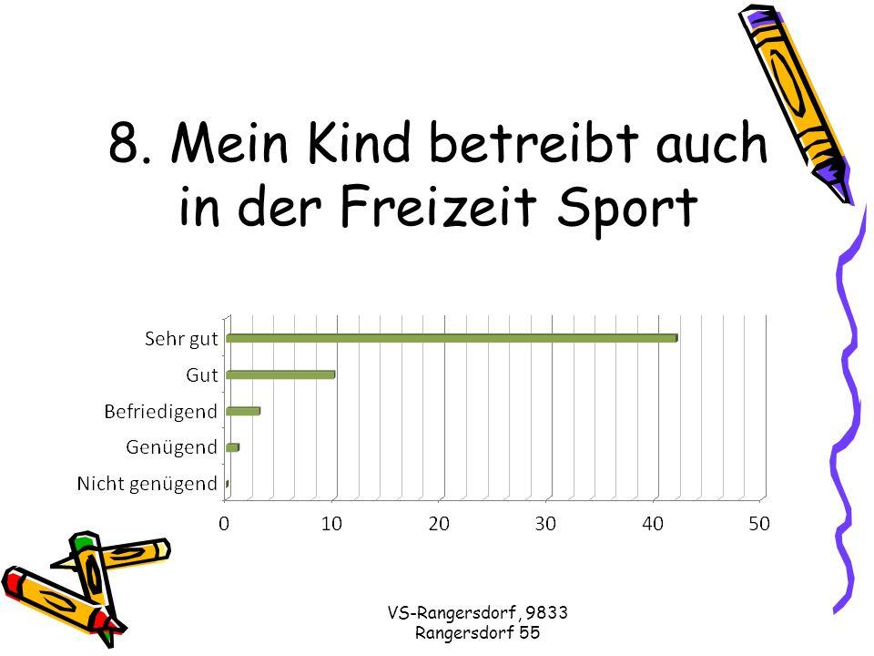 VS-Rangersdorf, 9833 Rangersdorf 55 9. Die KL legt Wert auf eine gute Klassengemeinschaft