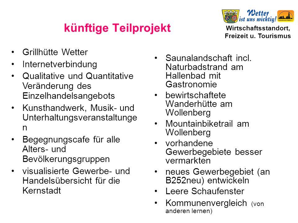 Wirtschaftsstandort, Freizeit u.Tourismus künftige Teilprojekt Saunalandschaft incl.