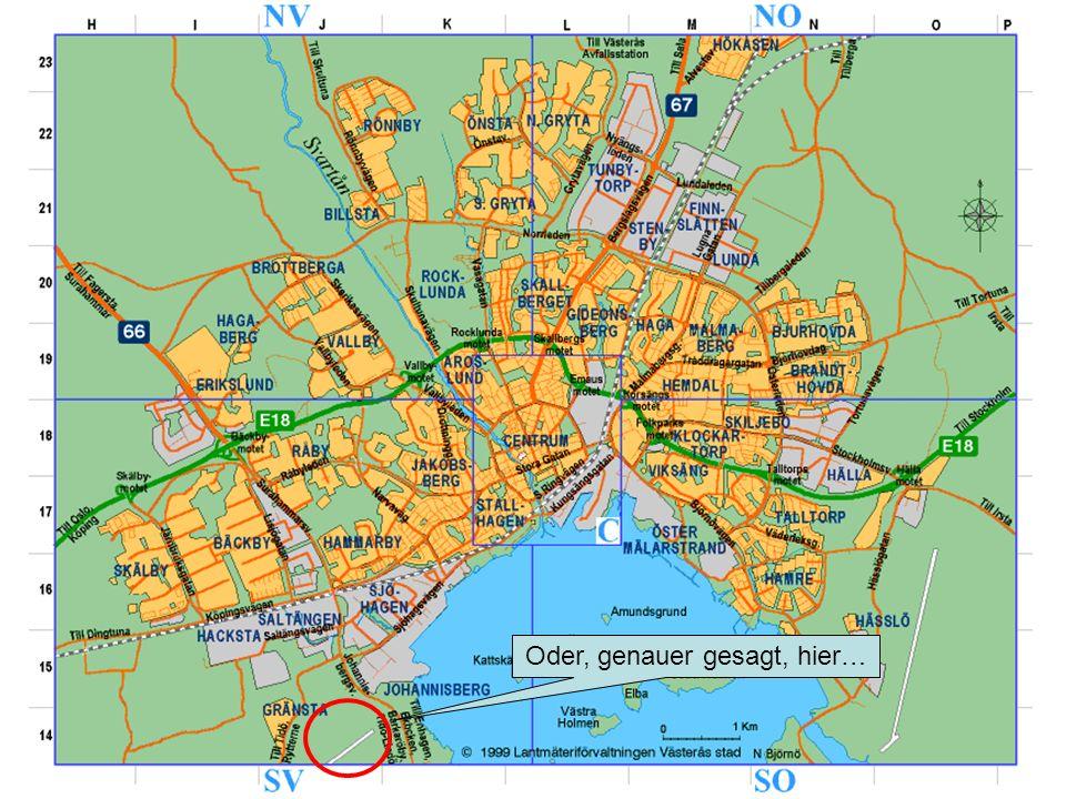 Die Stadt 130.000 Einwohner Industriestadt, früher von ABB dominiert Schnellzüge nach Stockholm (50 Minuten) Erholungsangebote: –Baden im Mälaren-See –Kanu, Segeln –Museum, Domkirche –Naturreservate, Golf