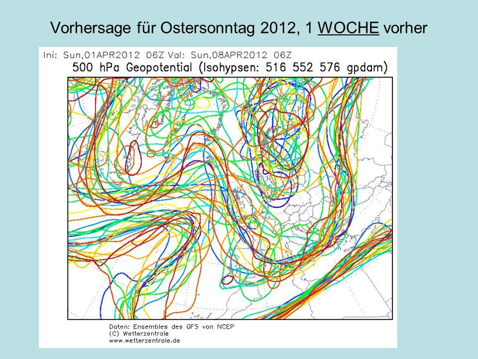 Vorhersage für Ostersonntag 2012, 2 WOCHEN vorher