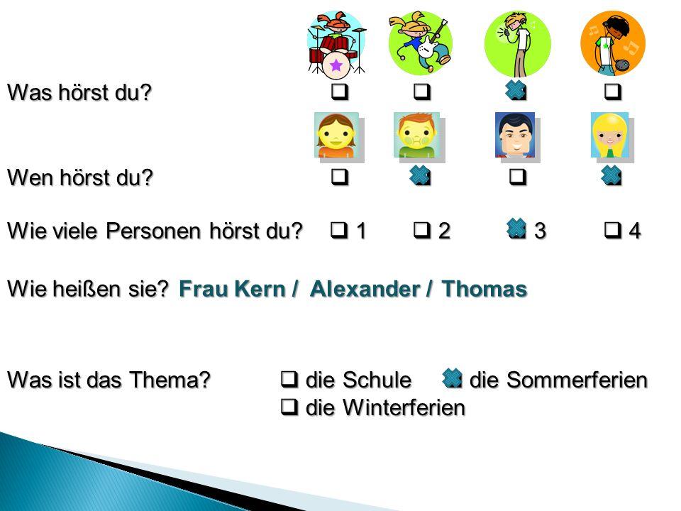 1.Alexander ruft seinen Freund Thomas an. Wer antwortet.