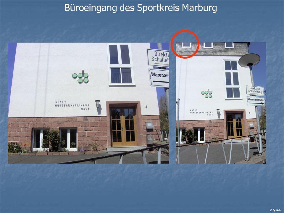 Büroeingang des Sportkreis Marburg © by HaKo