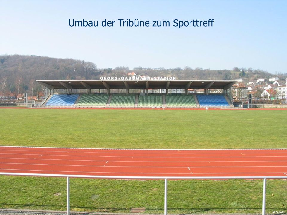 Umbau der Tribüne zum Sporttreff © by HaKo