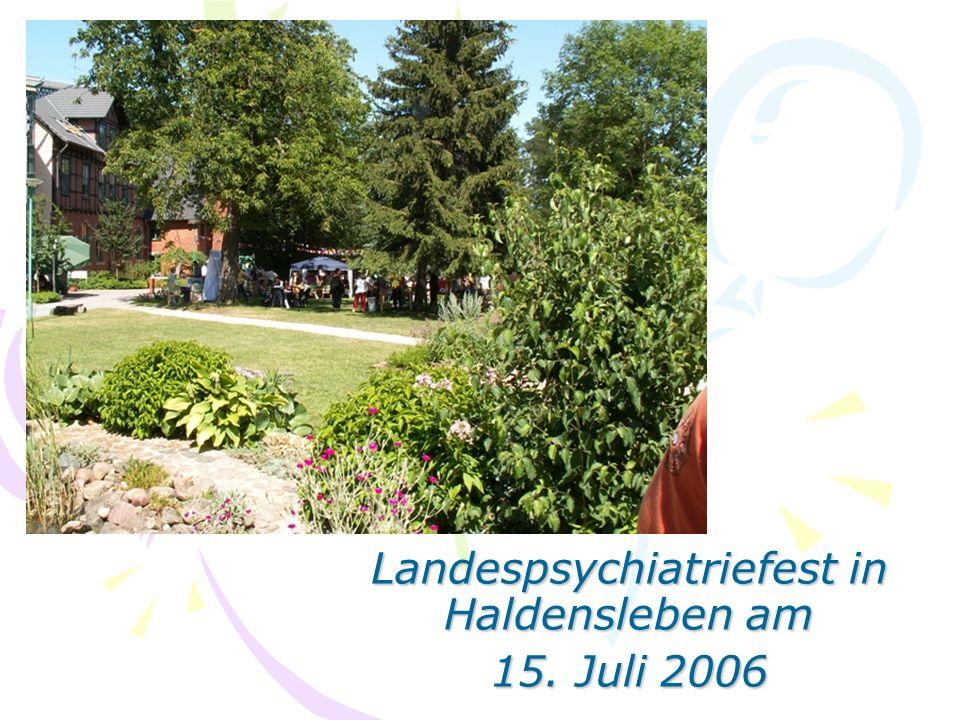 Landespsychiatriefest in Haldensleben am 15. Juli 2006
