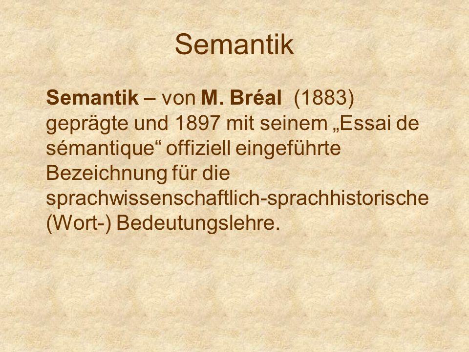 Semantik Semantik – von M.