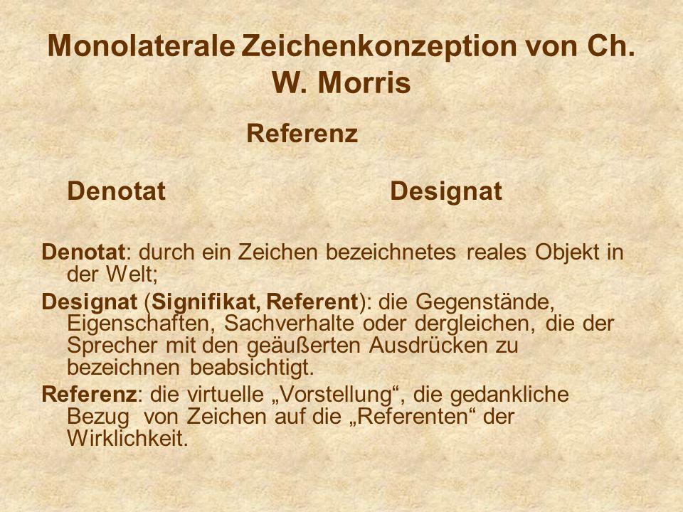 Monolaterale Zeichenkonzeption von Ch.W.