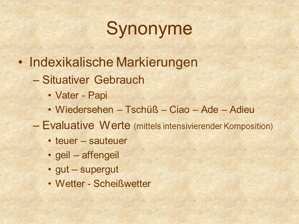 Homonymie Homonymie – Gleichnamigkeit –Die Bedeutungsbeziehung zweier sprachlichen Zeichen, die bei Nichtübereinstimmung ihres Inhalts ausdrucksseitig, und zwar phonetisch und graphematisch identisch sind.