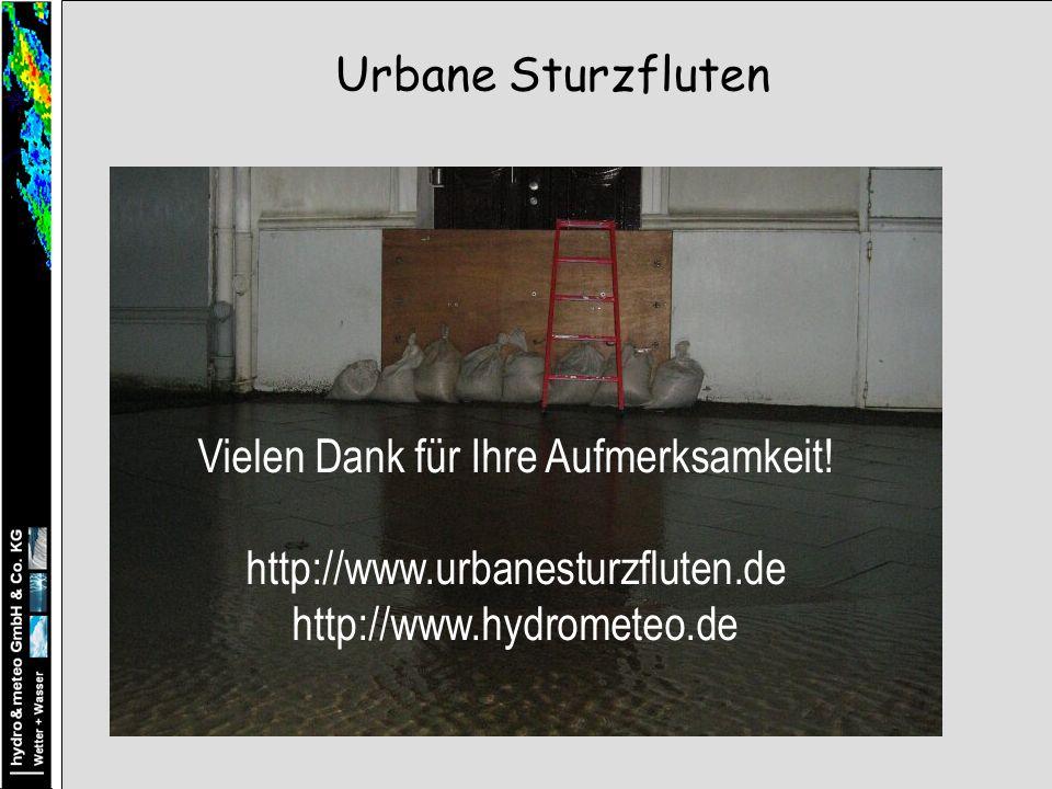 Urbane Sturzfluten Vielen Dank für Ihre Aufmerksamkeit.