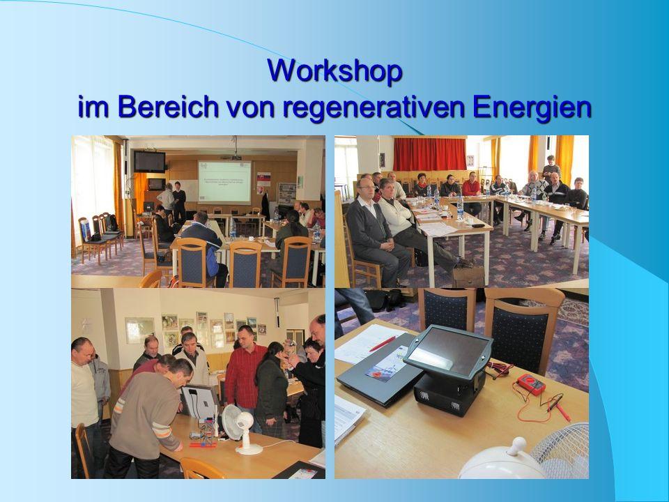 Workshop im Bereich von regenerativen Energien