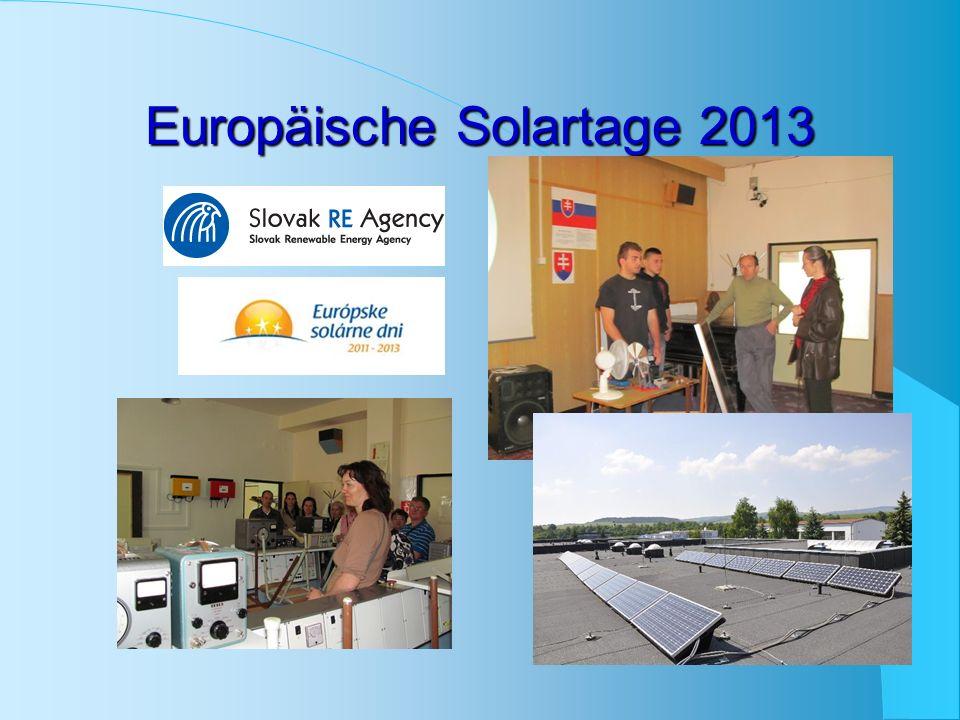 Europäische Solartage 2013