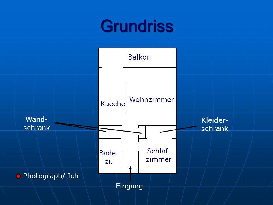 Grundriss Kueche Wohnzimmer Balkon Schlaf- zimmer Bade- zi.