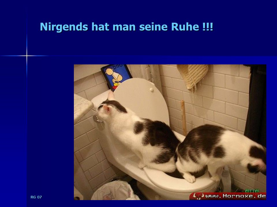 RG 07 Nirgends hat man seine Ruhe !!!