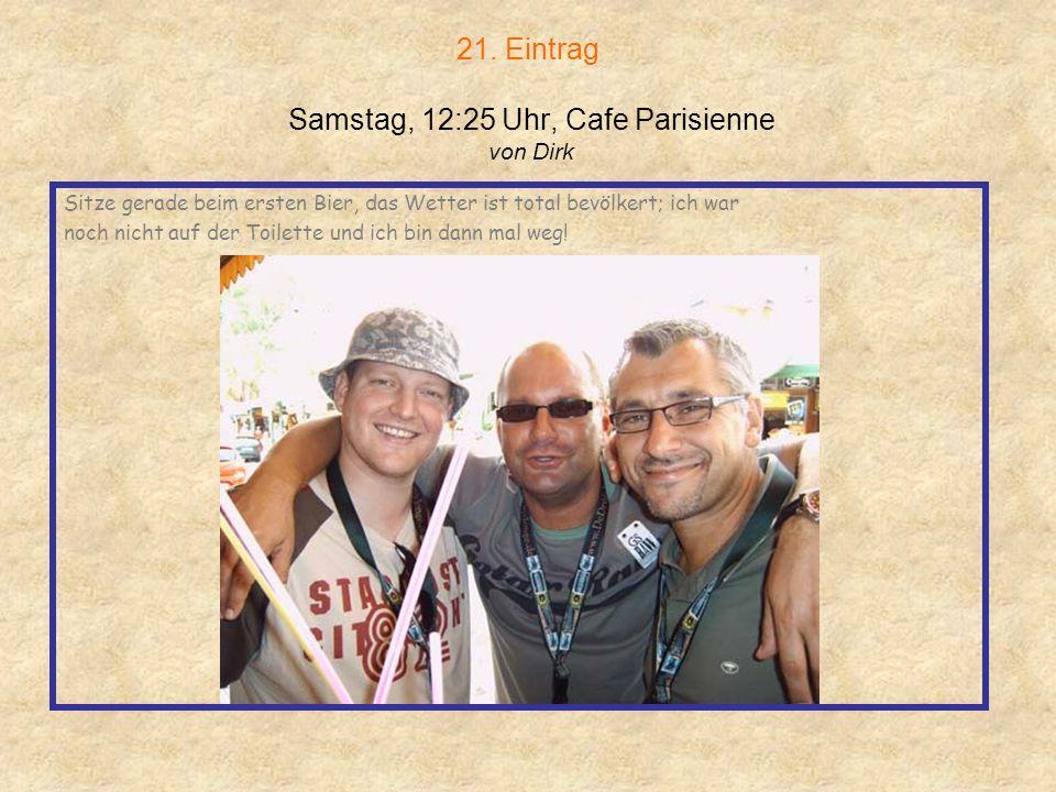 20. Eintrag Samstag, 11:39 Uhr, Niagara Gasteintrag von Silvia Bin auf Mallorca ( Diese Information ist jetzt schon ne Überraschung) Feier gerade mein