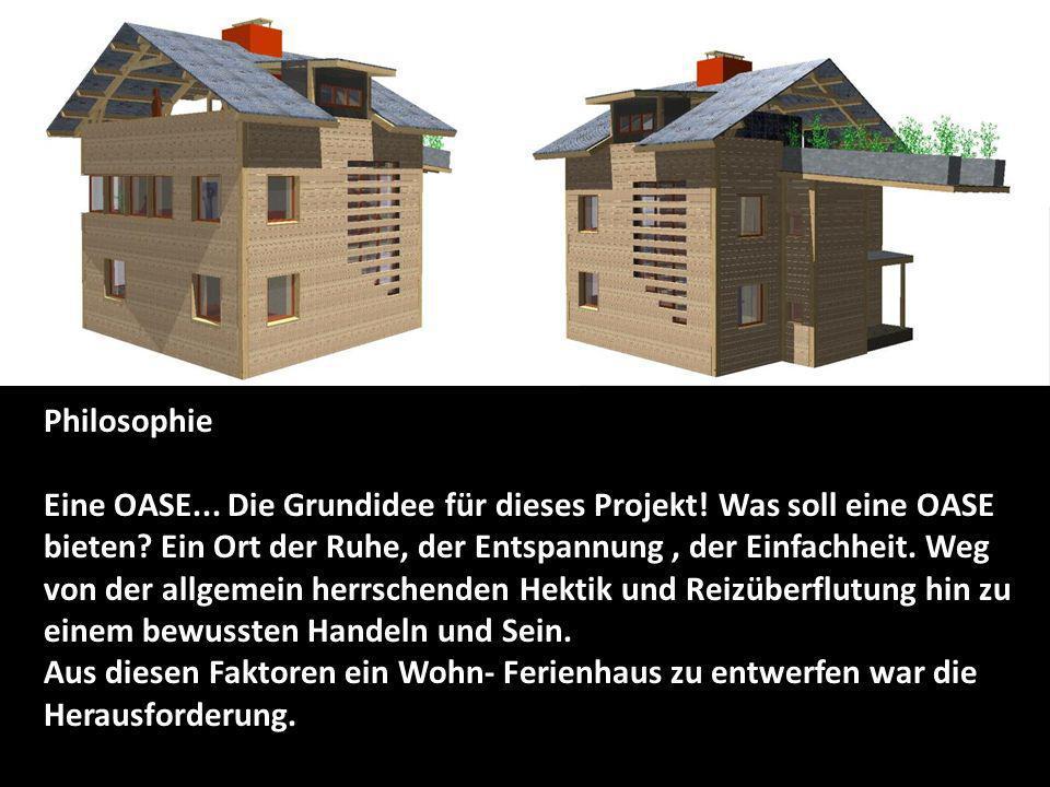 Auf der Parzelle entstehen zwei Wohnhäuser mit einer Nettowohnfläche von je 120 m2 und 60 m2 Dachterrasse SITUATION Wohn- Ferienhaus mit 2 Parkplätzen