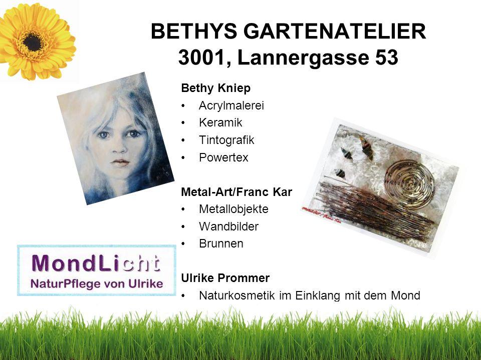 BAUER-WOLF NATURGARTEN 3001, Lannergasse 51 Samstag 22.6.2013 10.00 Uhr Eröffnung der Veranstaltung und der Fotoausstellung/ Sektempfang Fotoausstellu