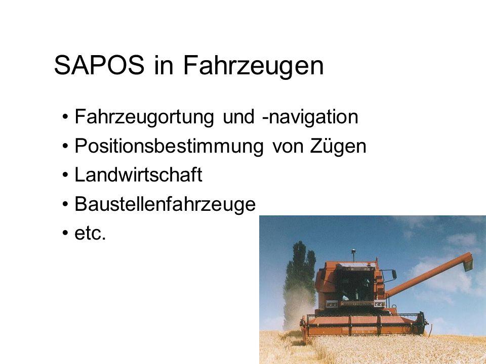 SAPOS IN FLUGZEUGEN Verfügbarkeit von SAPOS – RDS ist nicht mehr geeignet deswegen 2m-Band-Funk Bsp.: Fluggravimeter