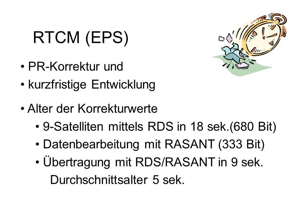 SAPOS-DATENFORMATE RTCM (EPS, HEPS) Rundfunksignale - WDR 5 Radio-Data-System 37 Bit/s RINEX (GPPS, GHPS) Telefonnetz 2m-Band2400 Bit/s GSM
