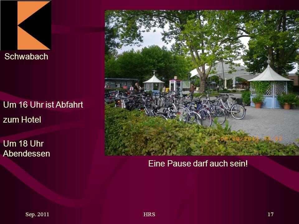 Schwabach Sep. 2011HRS17 Eine Pause darf auch sein.