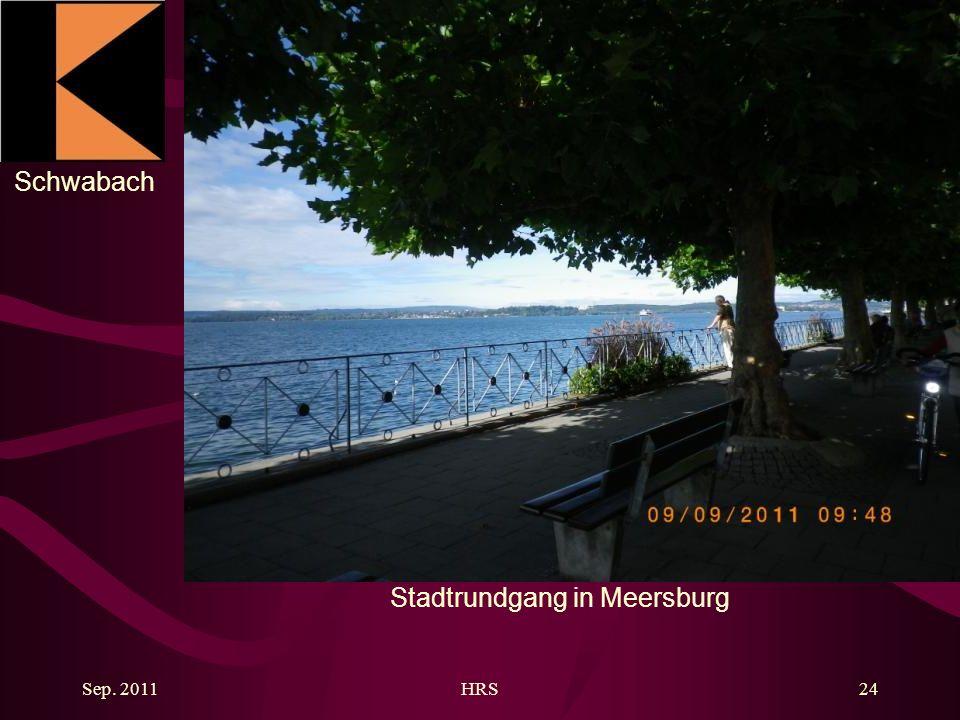 Schwabach Sep. 2011HRS24 Stadtrundgang in Meersburg