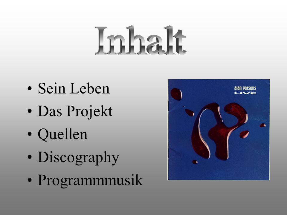 Sein Leben Das Projekt Quellen Discography Programmmusik