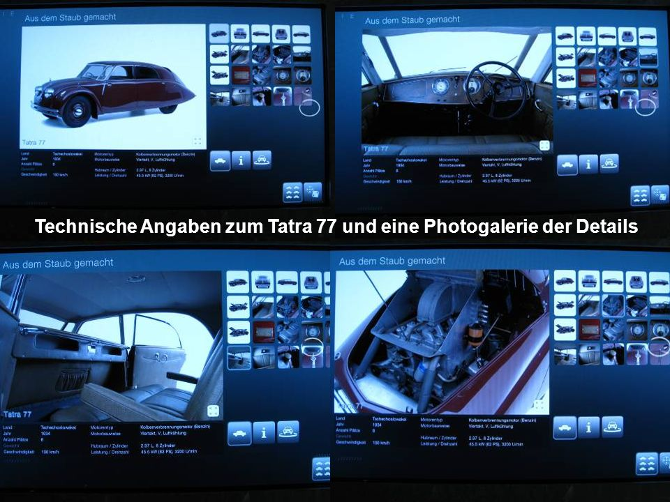 Technische Angaben zum Tatra 77 und eine Photogalerie der Details