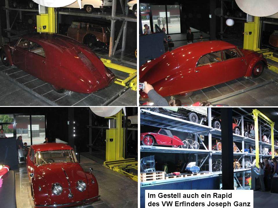 Im Gestell auch ein Rapid des VW Erfinders Joseph Ganz