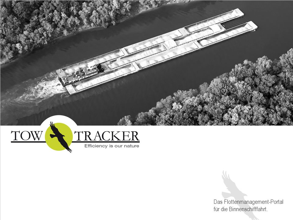 Ermöglicht Kapitänen ihre Ankunfts- und Abfahrtszeiten schnell und einfach zu errechnen Bezieht Geschwindigkeiten, Schleusenzeiten und weitere Variablen in die Berechnung mit ein Übermittelt die Daten an das TowtrackerTrafficBoard DIE WELTNEUHEIT, DIE SICH FÜR SIE RECHNET: TOWTRACKER FAHRPLAN-MANAGER