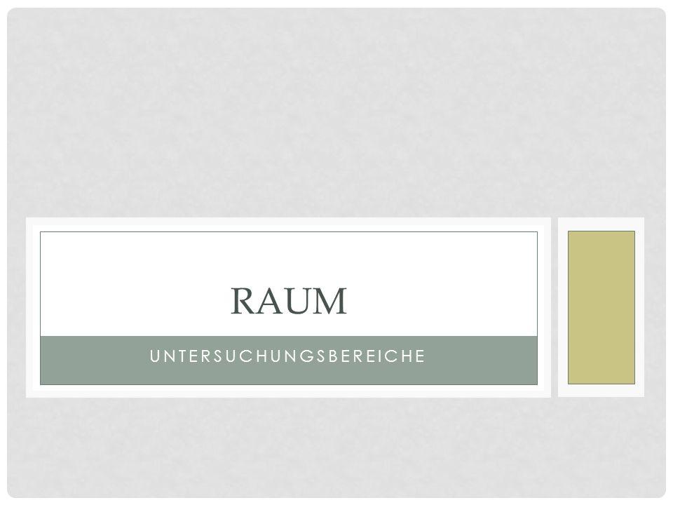 RAUM Funktionen des Raums a) Handlungsraum b) Stimmungsraum c) Lebensraum d) Kontrastraum e) Raumsymbolik Handlungsort Atmosphäre (subjektiv erlebter Raum; Differenz zwischen Figur und Leser möglich)