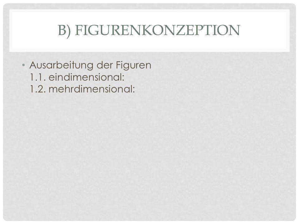 B) FIGURENKONZEPTION Ausarbeitung der Figuren 1.1. eindimensional: 1.2. mehrdimensional: