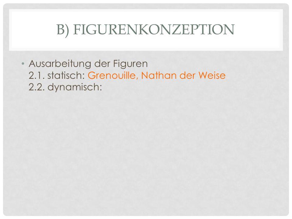B) FIGURENKONZEPTION Ausarbeitung der Figuren 2.1. statisch: Grenouille, Nathan der Weise 2.2. dynamisch: