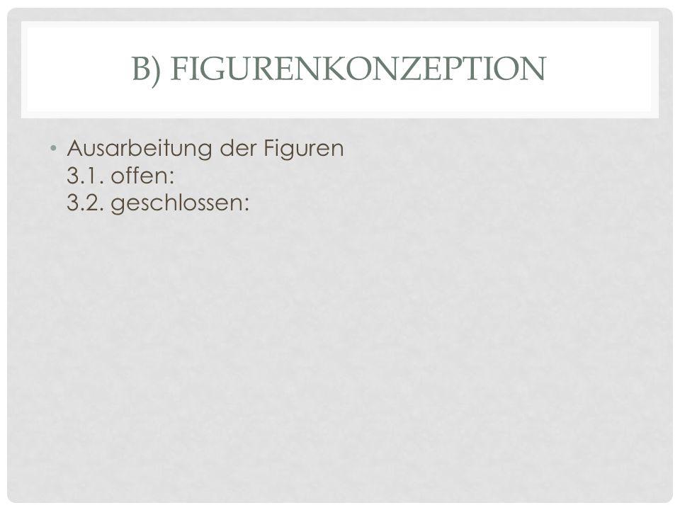 B) FIGURENKONZEPTION Ausarbeitung der Figuren 3.1. offen: 3.2. geschlossen: