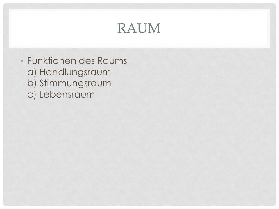 RAUM Zum Raum gehören: – Requisiten