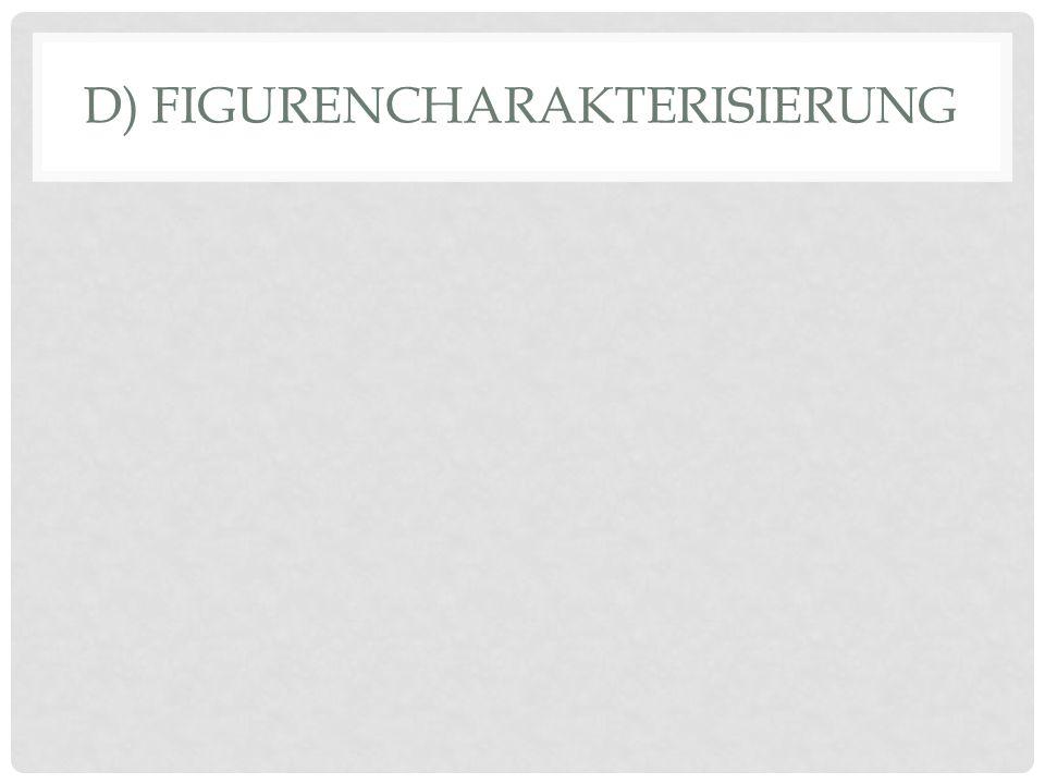 D) FIGURENCHARAKTERISIERUNG