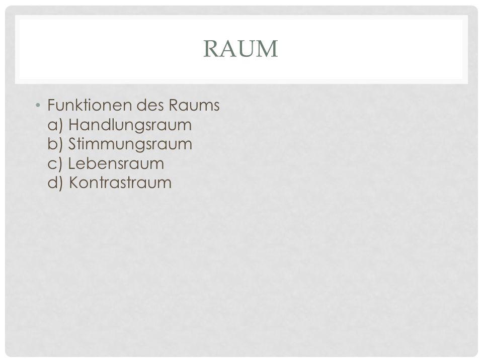 RAUM Zum Raum gehören: – Requisiten – Inventar