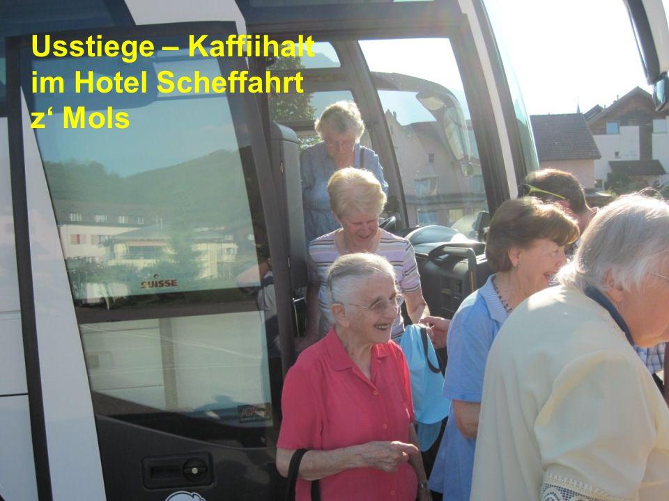 Usstiege – Kaffiihalt im Hotel Scheffahrt z Mols