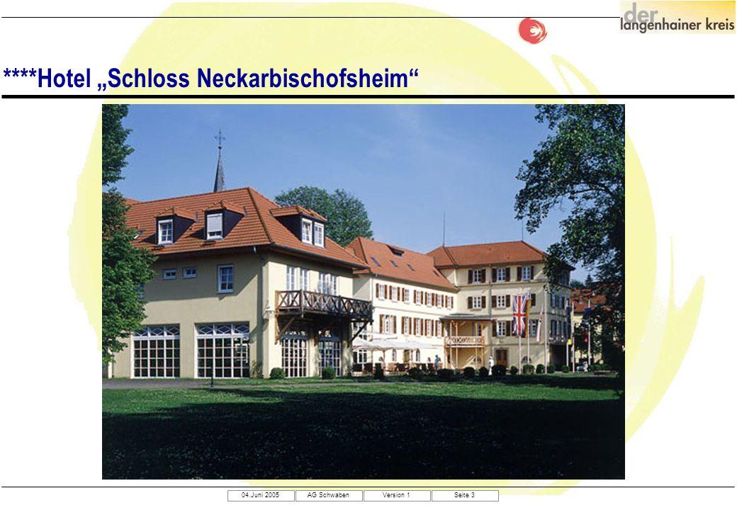 04.Juni 2005AG SchwabenVersion 1Seite 3 ****Hotel Schloss Neckarbischofsheim