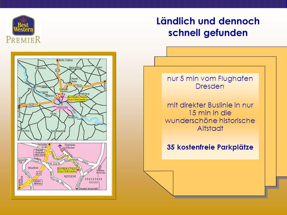 Ländlich und dennoch schnell gefunden nur 5 min vom Flughafen Dresden mit direkter Buslinie in nur 15 min in die wunderschöne historische Altstadt 35 kostenfreie Parkplätze