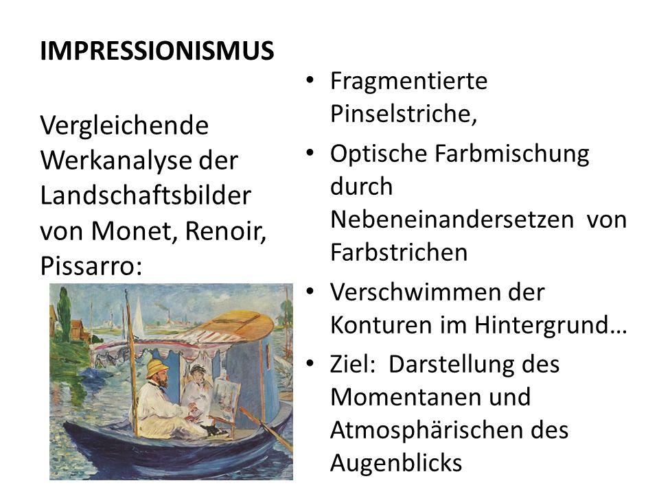 IMPRESSIONISMUS Impressionistische Landschaften im Vergleich Kathedrale von Rouen von Claude Monet.