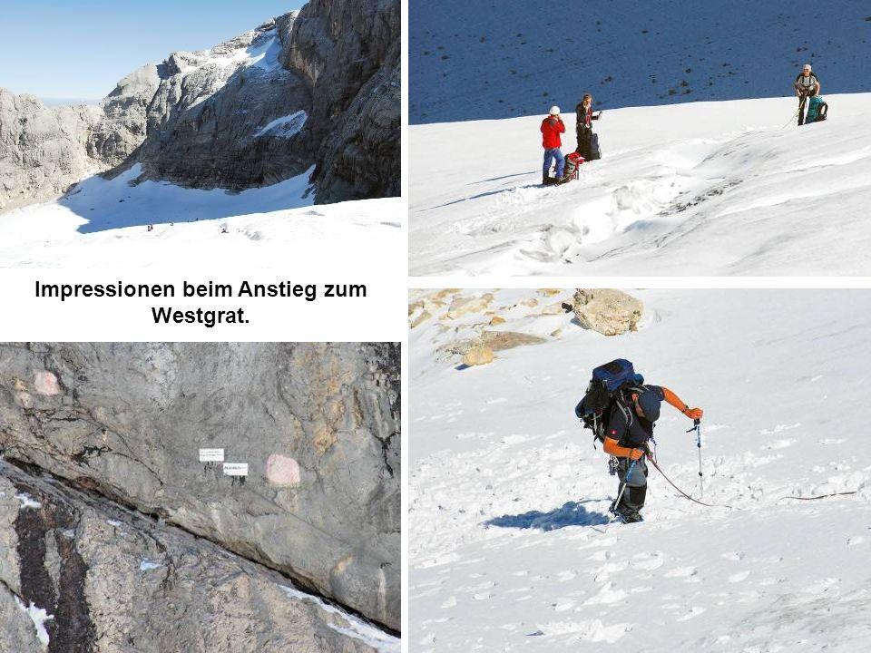 Impressionen beim Anstieg zum Westgrat.