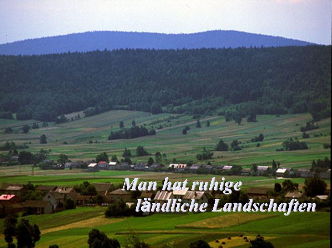 Man hat ruhige l ä ndliche Landschaften l ä ndliche Landschaften