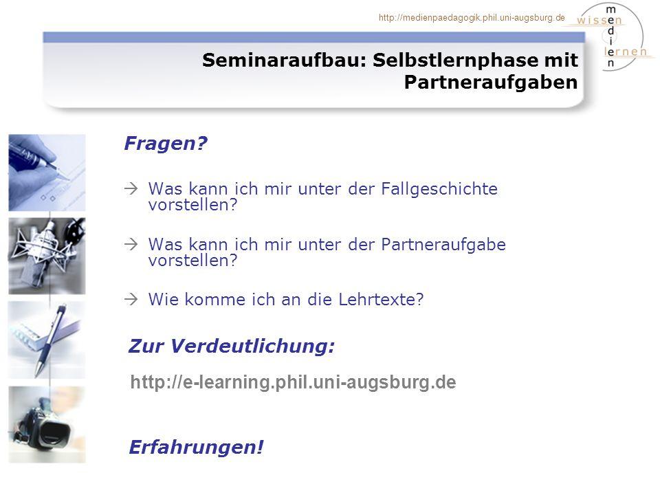 http://medienpaedagogik.phil.uni-augsburg.de Was kann ich mir unter der Fallgeschichte vorstellen.