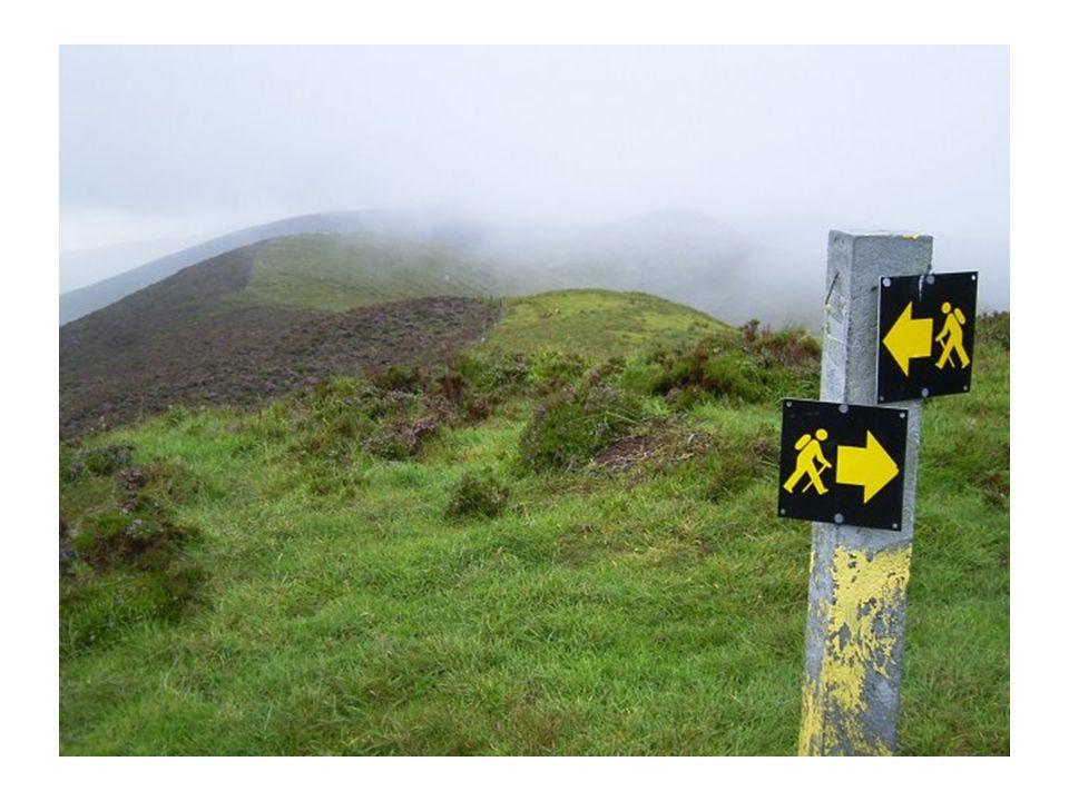 Er führte uns über (sumpfige) Berge und durch (trockenere) Täler...