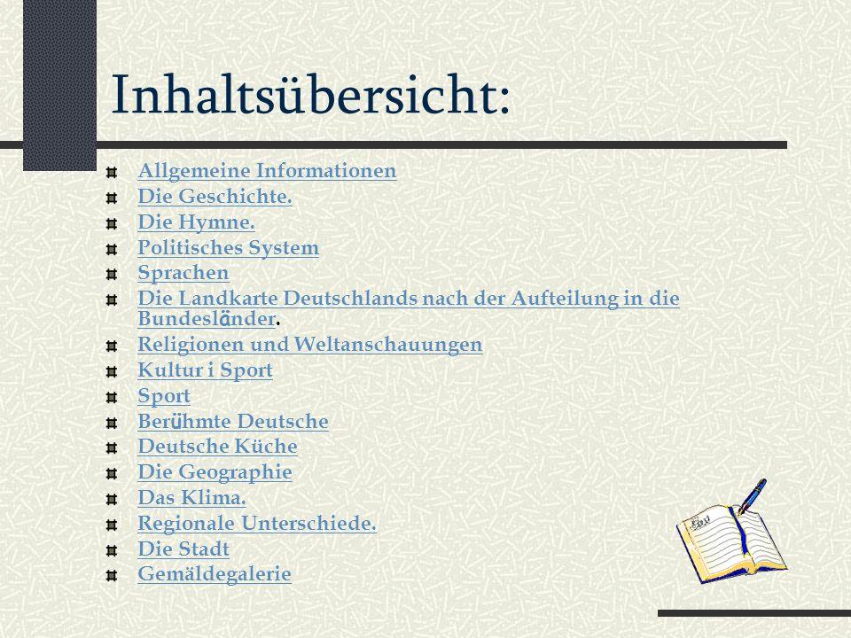 Inhaltsübersicht: Allgemeine Informationen Die Geschichte.