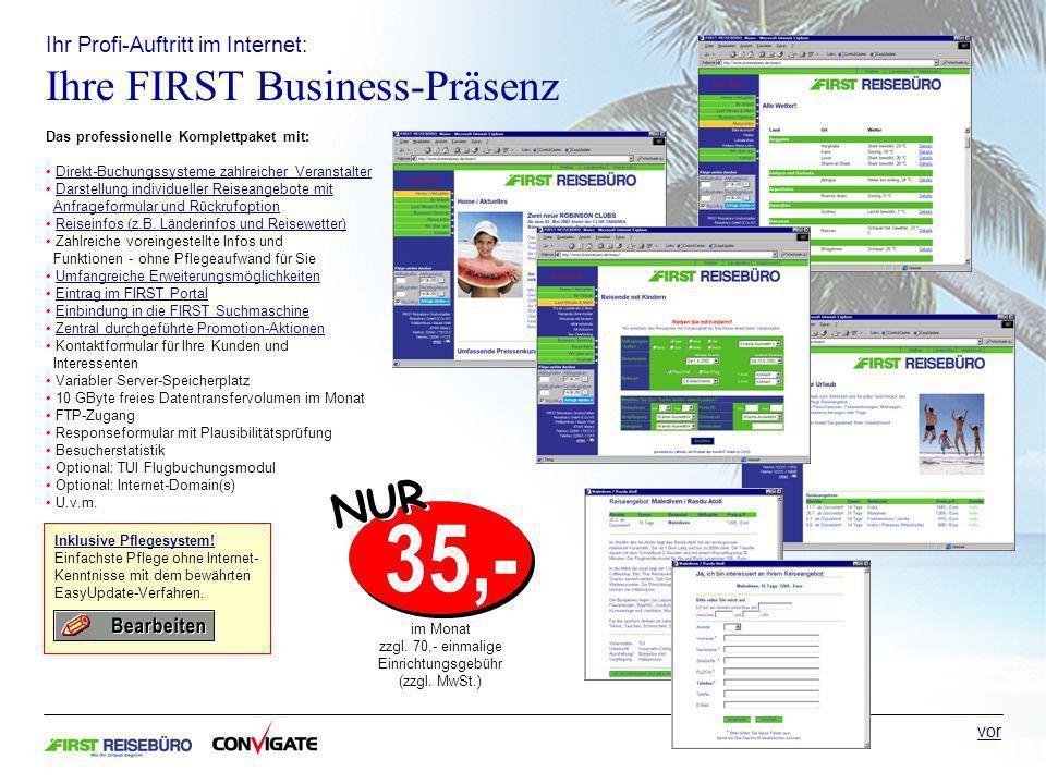 Ihr Profi-Auftritt im Internet: Ihre FIRST Business-Präsenz Inklusive Pflegesystem.