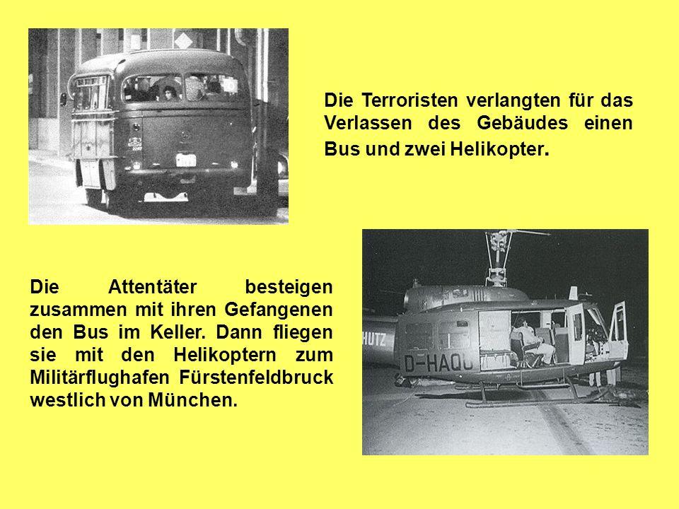 Die israelische Regierung wollte unter keinen Umständen auf die Forderungen der Terroristen eingehen. Bei der Münchner Polizei herrschte Ratlosigkeit.