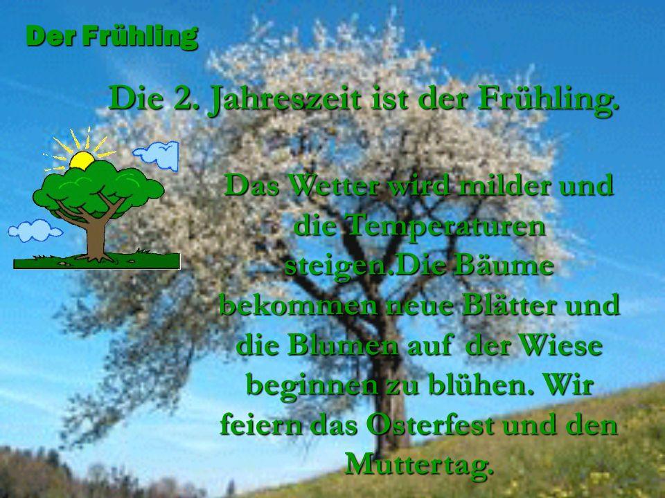Das Wetter wird milder und die Temperaturen steigen.Die Bäume bekommen neue Blätter und die Blumen auf der Wiese beginnen zu blühen. Wir feiern das Os