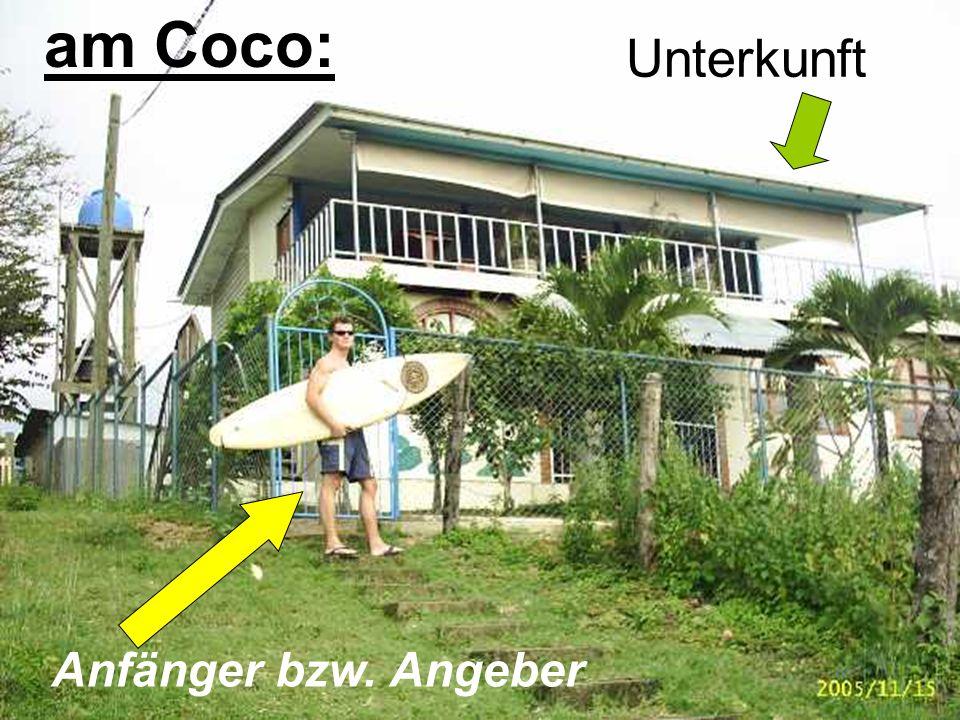 Unterkunft Anfänger bzw. Angeber am Coco: